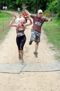 Warrior Dash together! The couple that plays together stays together!