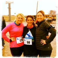 Me, Ashley & Lisa right before we started our half marathon!