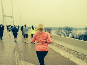 Running up to the Mississippi River!