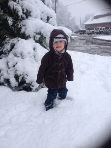 Noah playing in the snow!